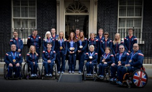 The UK Prime Minister Rt Hon David Cameron invites medal winners from the Team GB Paralympics to a reception at No10 Downing Street
